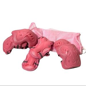 Protection Sports Gear Pads For Girls Pink Knee Pad Elbow Pad Wrist Pad 6 Pieces